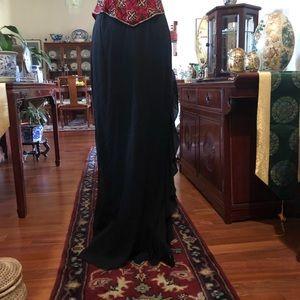 Long silk evening skirt
